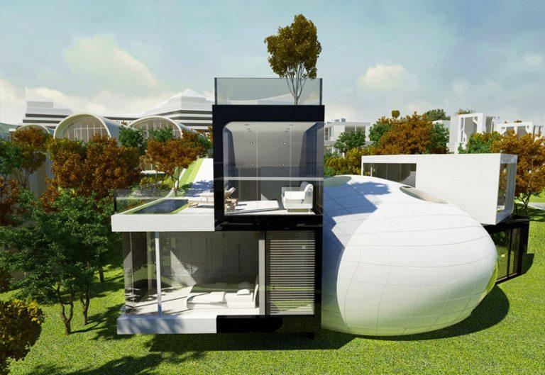 Проект на уникална къща в Корея