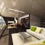 Интериорен проект на дневната зона в къщата