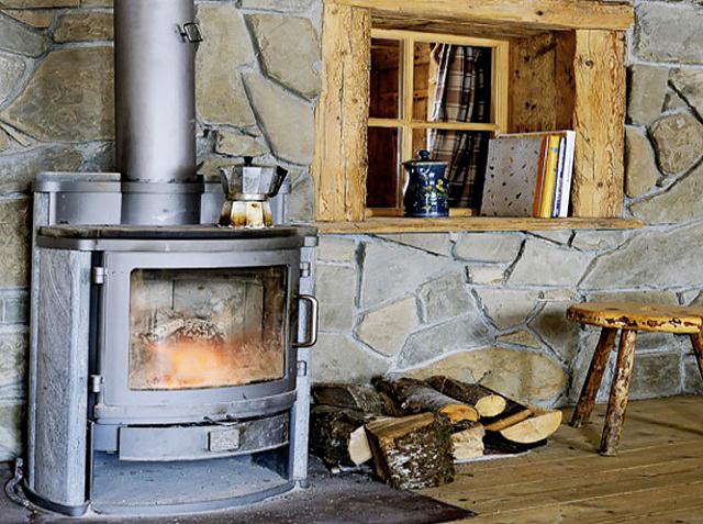 Ретро-печка на дърва