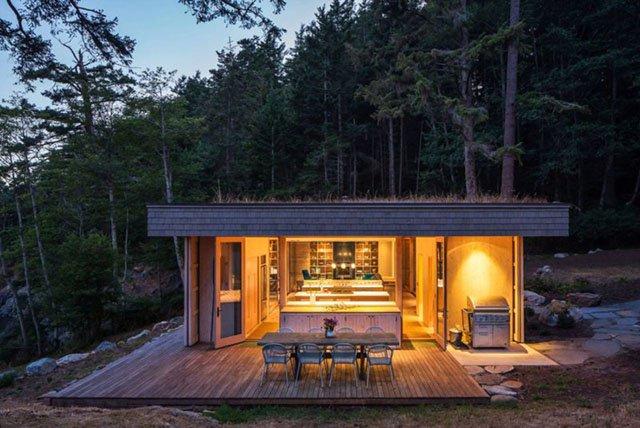 Малка къща с модерна архитектура