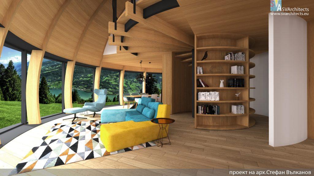 Дървена куполна къща