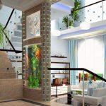 Впечатляваща идея за вграден аквариум в преградна стена