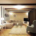 Модерен интериор с декоративни греди