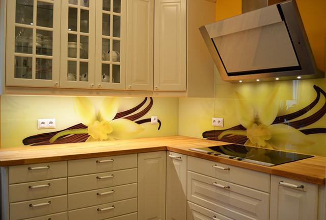Принт гръб на кухня - Ванилия