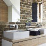Декорация с тухлички в банята