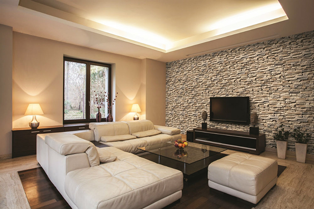Акценти с камък в дневната