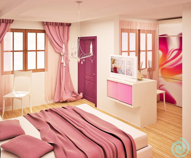 Цветен експеримент в спалня за гости