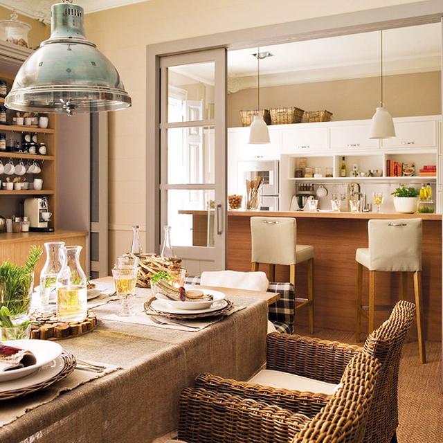 Очарователна кухня в еко стил