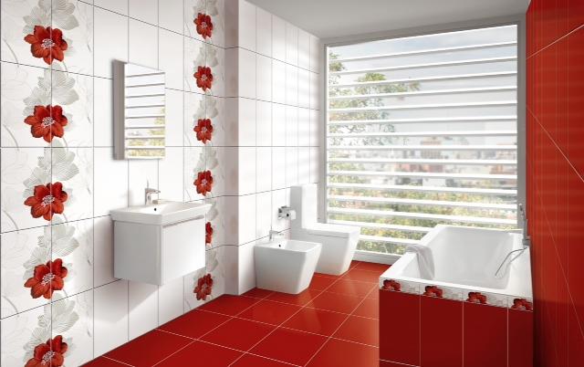 Дързостта да харесваш червено и бяло... в банята!