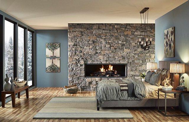 Декоративен камък в спалнята - идеи и съвети