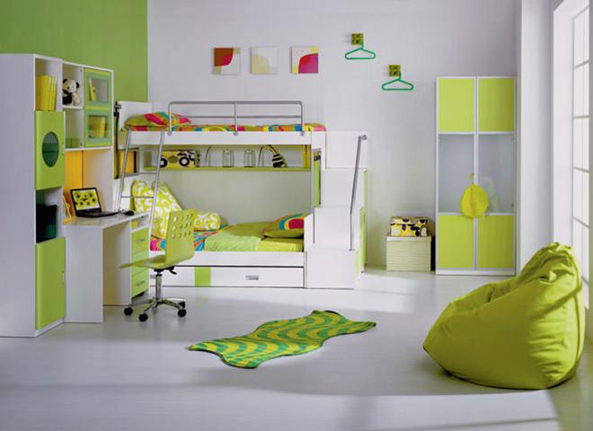 Детска стая със зелени акценти - универсалният избор!