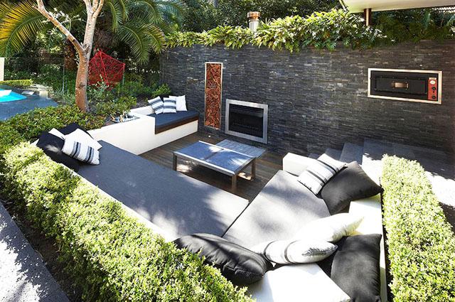 Концепция за градина и жилище без покрив