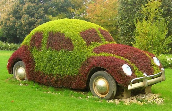 """Старият автомобил """"възкръсва"""" в градината"""