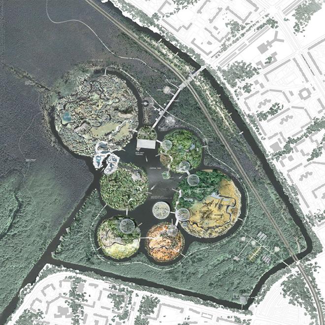 Суперконтинентът ПАНГЕЯ се възражда в новия зоопарк на Санкт Петербург