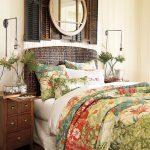 Табла зад леглото от бамбук