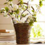 Кошница за декорация от естествени дървесни  влакна
