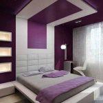 Водещ цвят в спалнята е теменужолилавият
