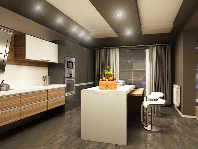 Интериорен дизайн на двустаен апартамент