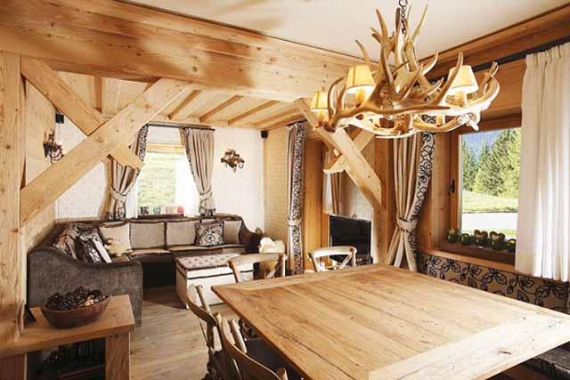 Интериор на апартамент в рустикален стил