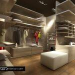 Гардеробното помещение е с излъчване на луксозен магазин за дрехи