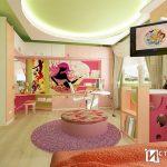 Интериорен проект на детска стая в пролетни нюанси