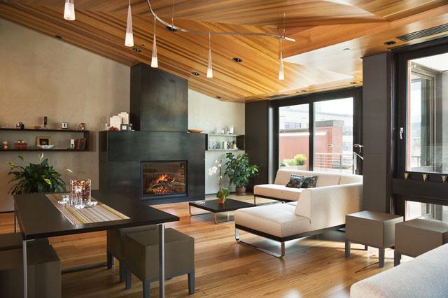 16 интериора на дневни с бели мебели