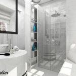 Двустранното огледало позволява използването на модула и като тоалетка