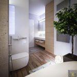 Овална вана и душ-кабина в банята