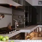 В кухнята се срещат силното излъчване на лакирани черни повърхности и иноксови елементи