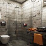 WC е с вградена в стената структура