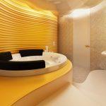 Банята е оборудвана с вана и душ