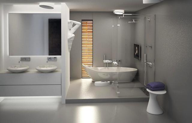 Модернизъм и асиметрия в проект на семейна баня