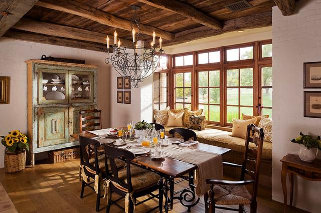 Дървен таван и под