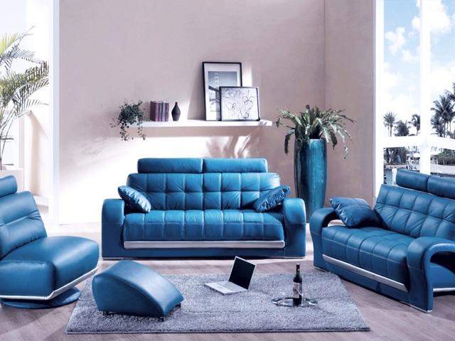 Сини мебели - смело, но интересно решение