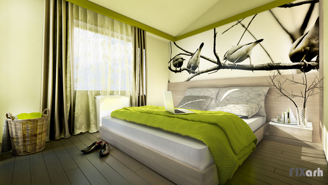 Различните цветни настроения  на спалнята