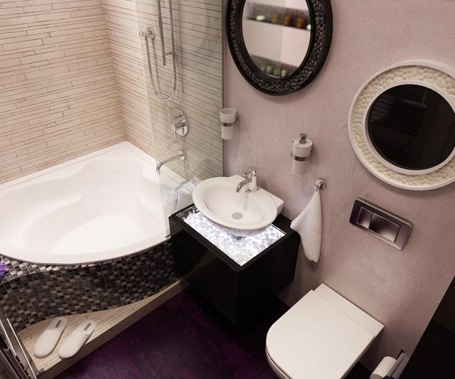 Интериорни проекти на 2 бани в апартамент в София