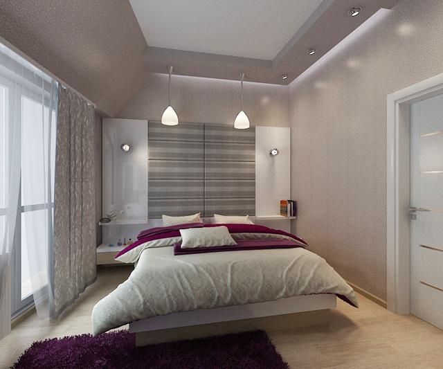 Окачен таван със скрито осветление