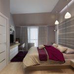 Към спалнята има и гардеробно помещение