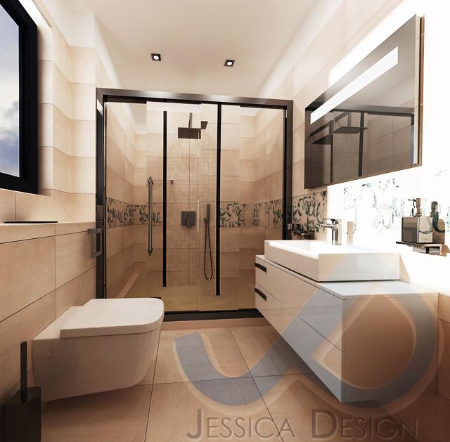 Тоалетната и шкафът с мивка са от Идеал Стандарт - Видима