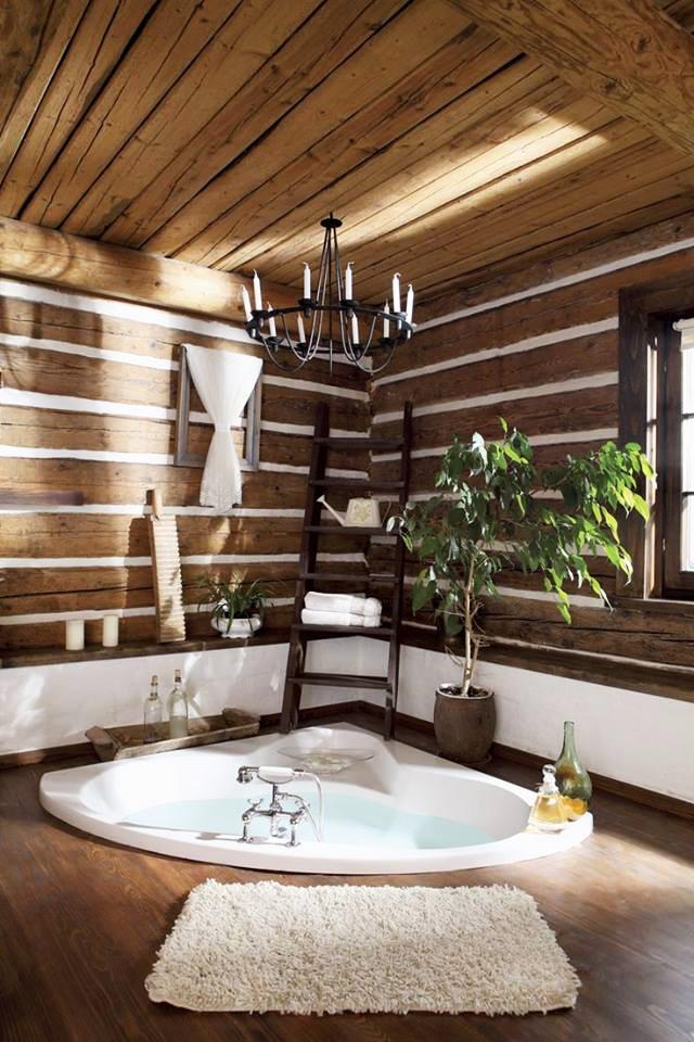 Естествено дърво за атмосфера в банята