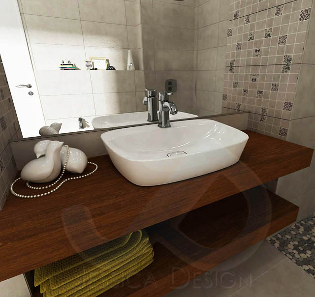 Пастелно спокойствие в банята с италиански привкус