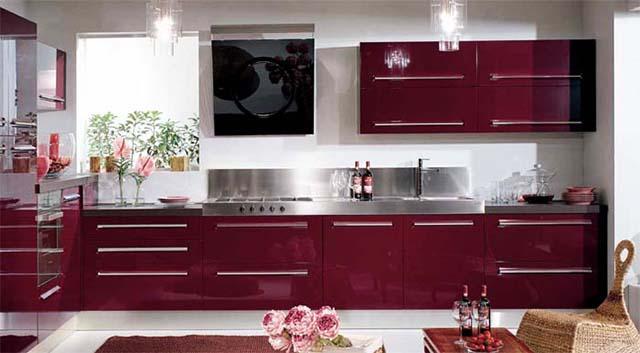 Идеи за лилави кухни