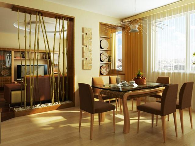 Декорация с бамбук