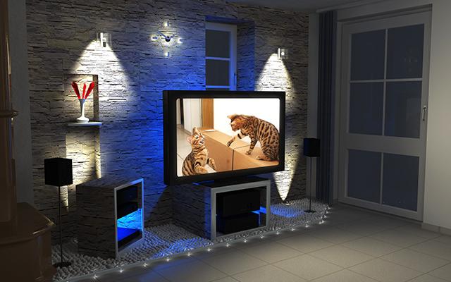 TV-кът с лед осветление