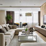 Дневна зона на апартамент 165 кв.м