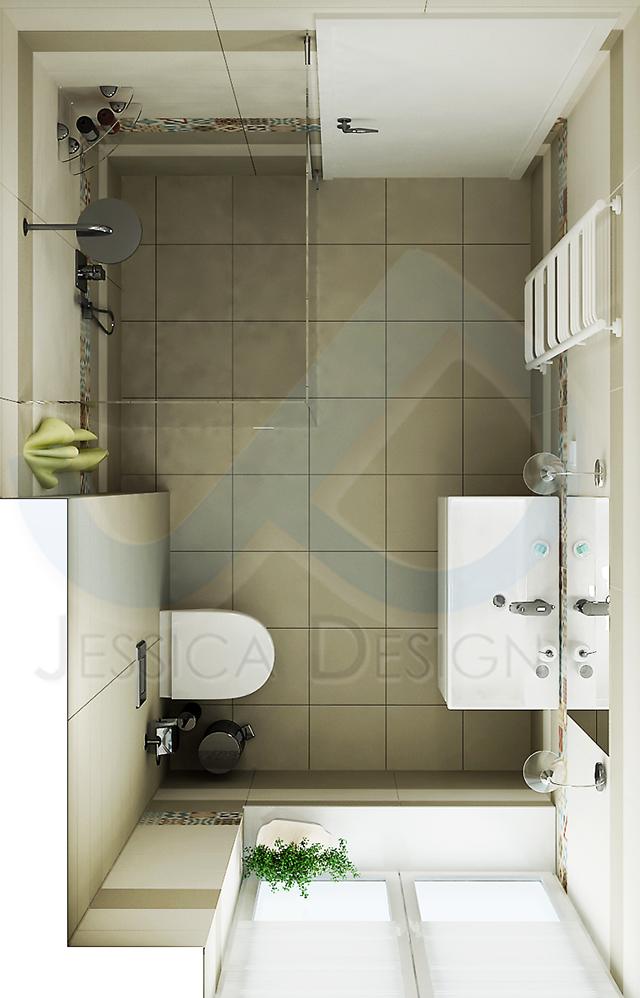 План на банята