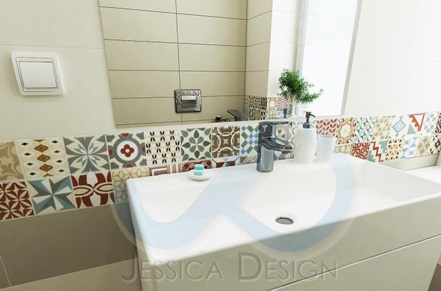 Пастелни тонове и пролетна свежест в интериора на модерна баня
