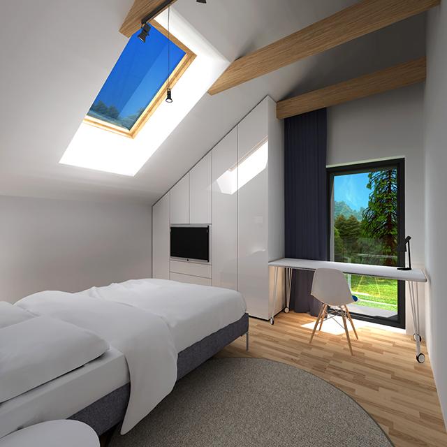 Спалня с работна маса