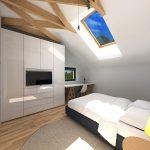 Спалня с покривен прозорец Velux