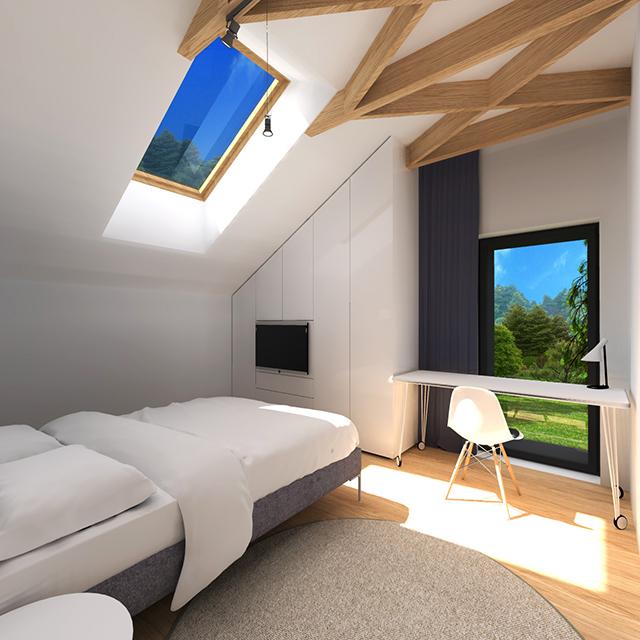 Спалните разполагат и с панорамни прозорци